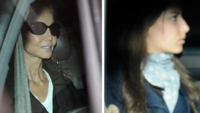 Isabel Preysler y su hija Ana Boyer abandonan en coche la clínica Ruber donde ha sido operado Miguel Boyer.