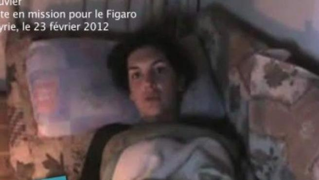 Edith Bouvier, la periodista herida en un ataque en la ciudad siria de Homs.