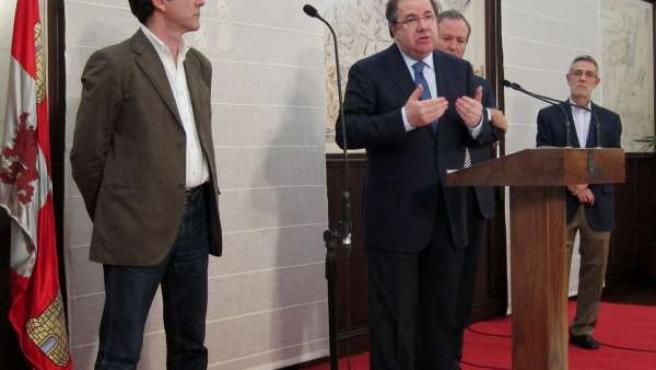 De Izq. A Drcha., Ángel Hernández, Herrera, Jesús Terciado Y Agustín Prieto