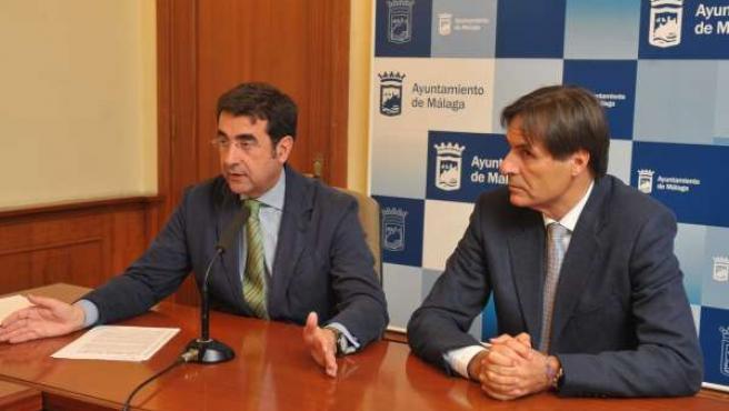 José María Luna Y Damián Caneda, En La Presentación