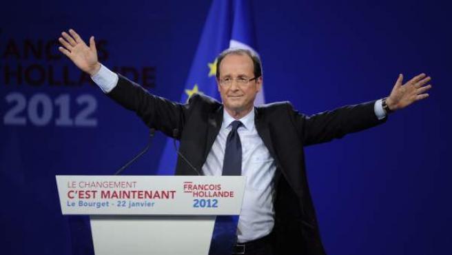 El candidato socialista a la presidencia de la República francesa, François Hollande.