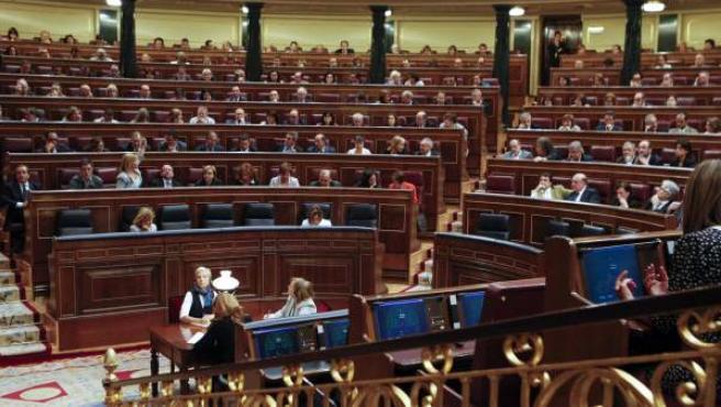 Vista general del Congreso de los Diputados durante un pleno.
