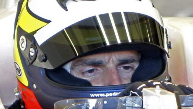 De la Rosa, durante los entrenamientos de F1.