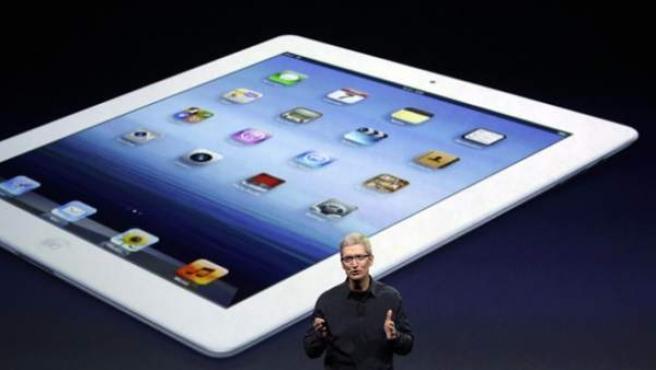 El CEO de Apple, Tim Cook, presenta el nuevo iPad en San Francisco (Estados Unidos).