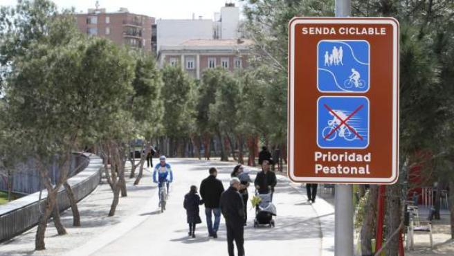 Imagen de una zona peatonal en Madrid.