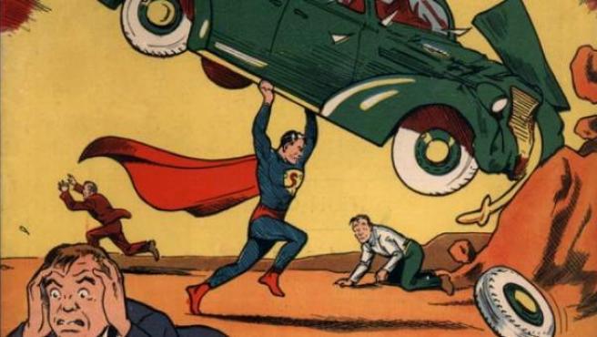 Portada del número 1 de Action Comics, en cuyas viñetas nació Superman, el primer superhéroe de la historia.
