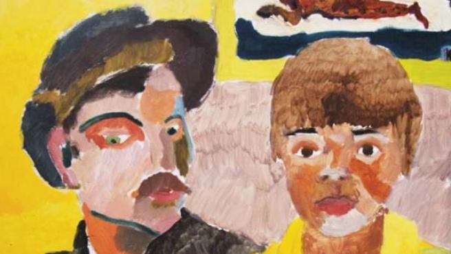 'Gauguin y yo', un cuadro que el artista Kevin Hosseini (1994) pintó con nueve años