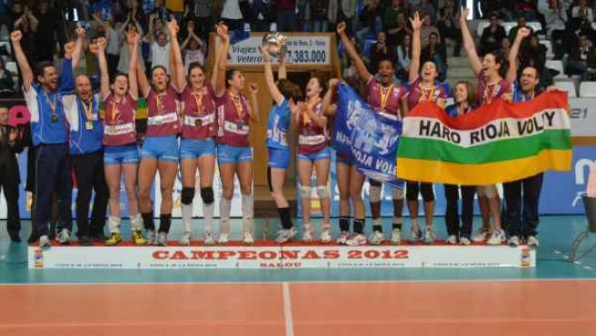 Haro Rioja Vóley, campeón de la Copa de la Reina de voleibol.