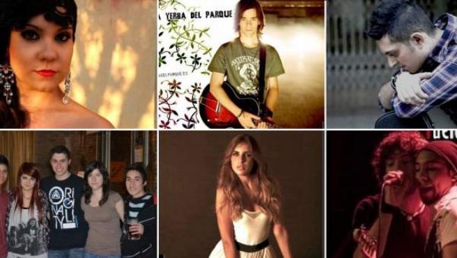 Algunos de los concursantes que encabezan las votaciones en el concurso 'Jóvenes Talentos'.