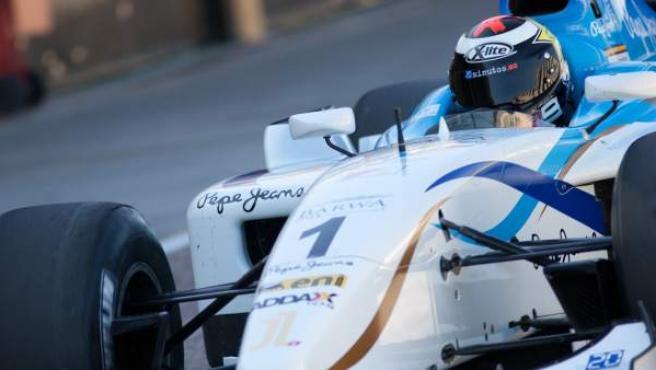 Jorge Lorenzo, en un GP2 en Cheste.
