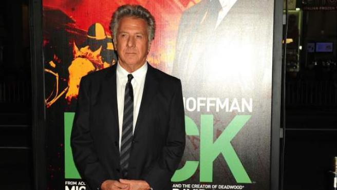 Dustin Hoffman, durante la presentación de la serie de la HBO 'Luck'.