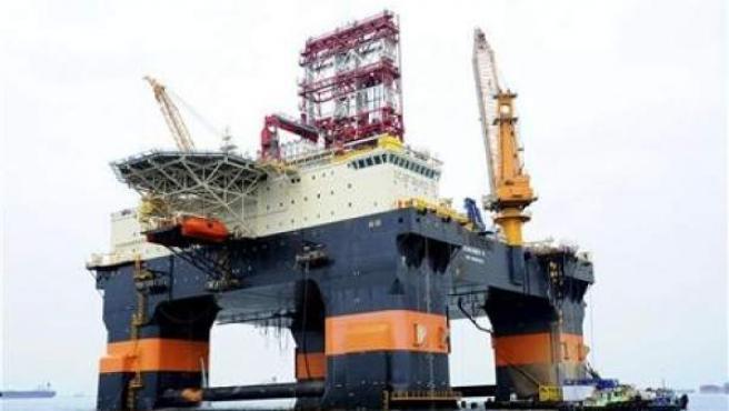 Una planta petrolera de Repsol.