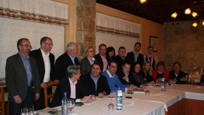Reunión Del PP Provincial De A Coruña Con Sus Representantes En O Barbanza