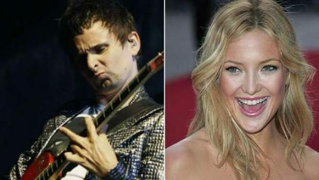 El cantante Matt Bellamy y la actriz Kate Hudson.