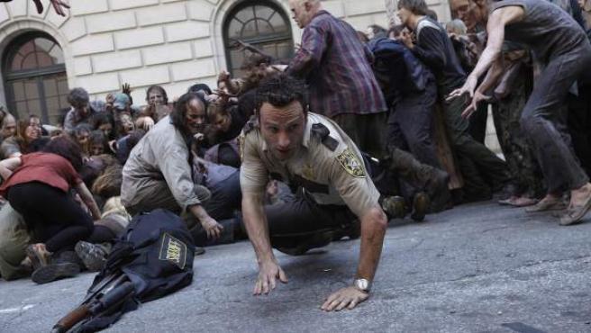 Escena de la serie 'The Walking Dead'.