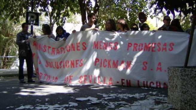 Protesta De Los Trabajadores De Pickman