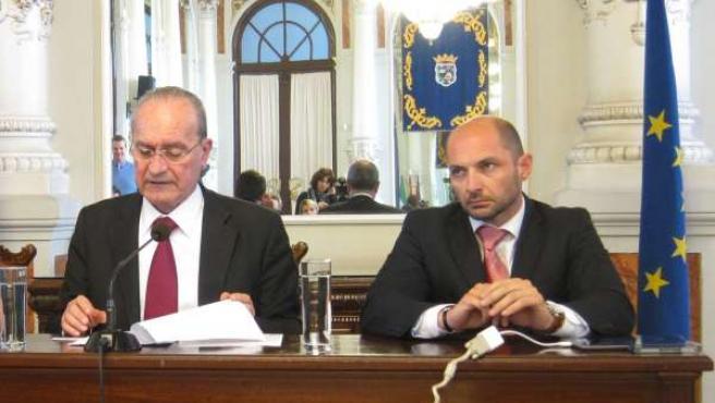 El Alcalde De Málaga Y El Concejal De Movilidad