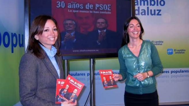 Patricia Navarro Y Rosario Soto Presentan La Campaña '30 Años De PSOE'