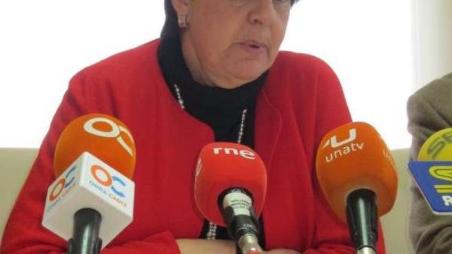 Josefina Cruz Villalón en reciente rueda de prensa
