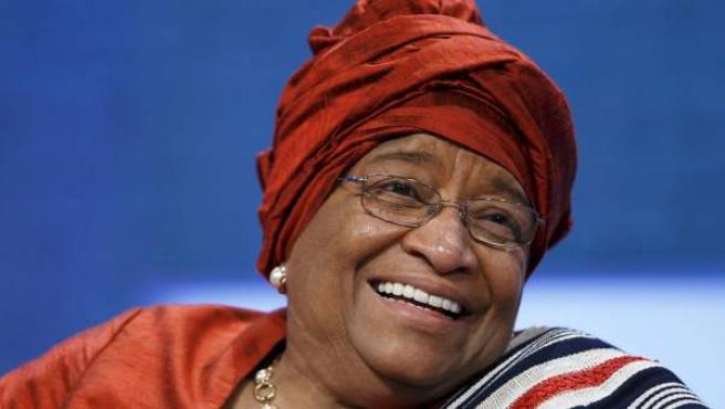 La presidenta de LIberia, Ellen Johnson-Sirleaf.