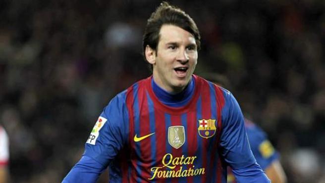 Leo Messi, en el encuentro ante el Granada.