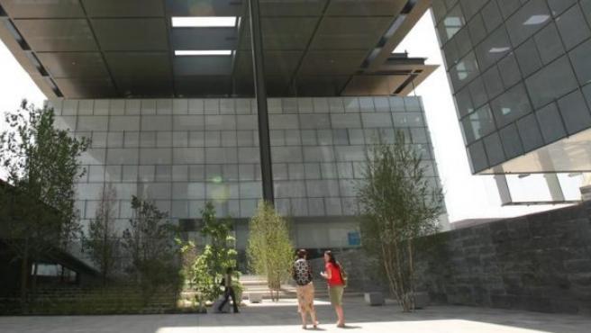 Edificios de la sede central de Telefónica en Madrid.