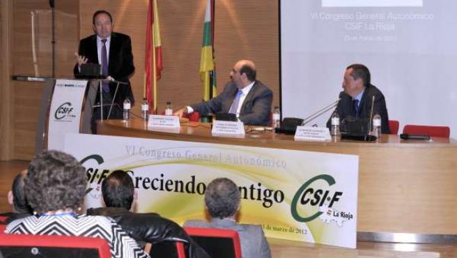 Pedro Sanz Durante La Clausura Del VI Congreso General Autonómico Del CSIF