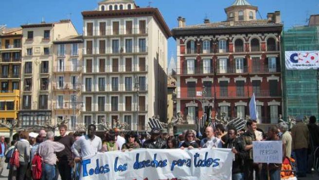 Manifestación Con Motivo Del Día Contra El Racismo.