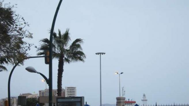 Farola De La Ciudad De Málaga