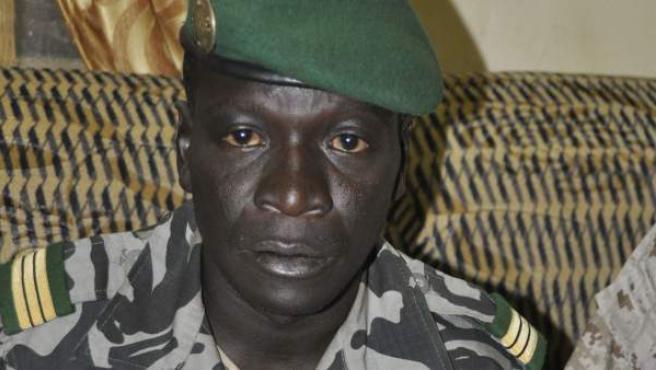 El capitán Amadou Haya Sanogo, jefe del grupo militar que ha depuesto al presidente de Mali, Amadu Tumani Touré.