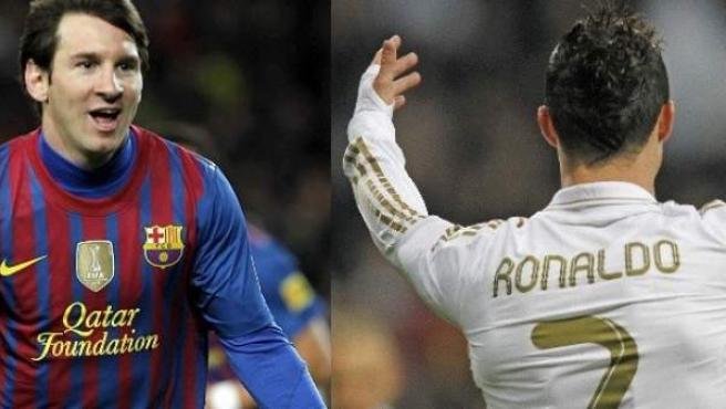 Messi y Cristiano Ronaldo, grandes estrellas de la Liga.