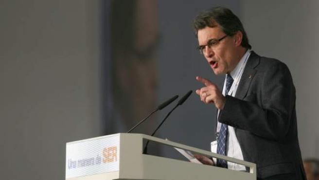 Artur Mas, durante el XVI congreso de Convergència Democràtica de Catalunya.