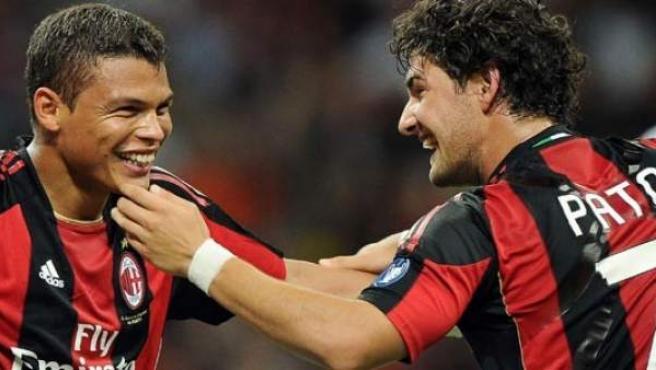 Thiago Silva y Pato, en el Milan.