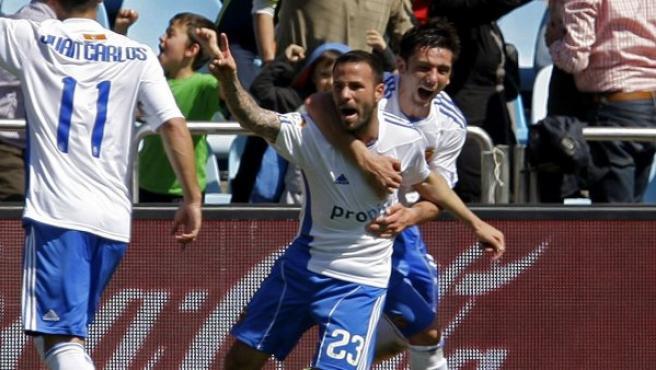"""El centrocampista del Real Zaragoza Antonio Galdeano """"Apoño""""."""