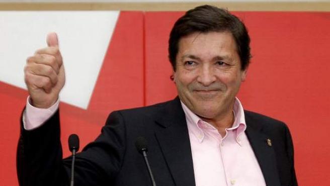 El presidente del Principado de Asturias, Javier Fernández, del PSOE.