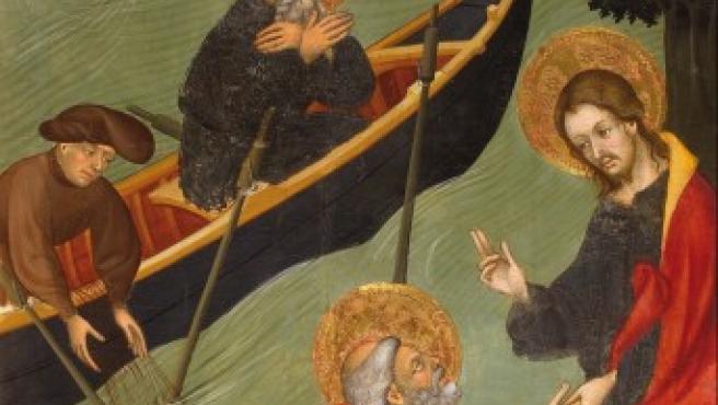 Vocación de San Pedro, retablo de San Pedro, de Lluís Borrassà.