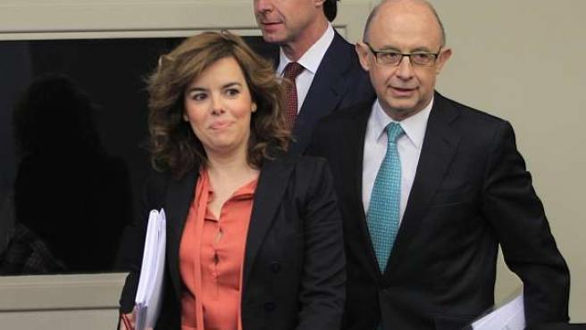 José Manuel Soria, Soraya Sáenz De Santamaría Y Cristóbal Montoro