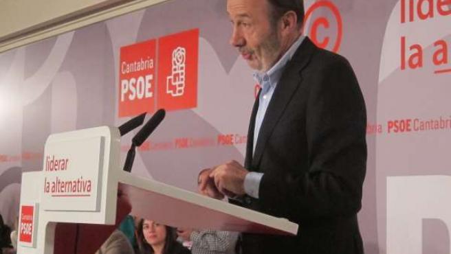 Pérez Rubalcaba En El Congreso Del PSC-PSOE