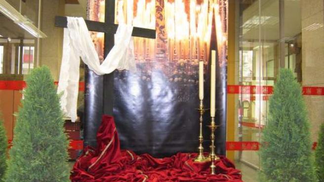 Altar De Semana Santa En El Ayuntamiento
