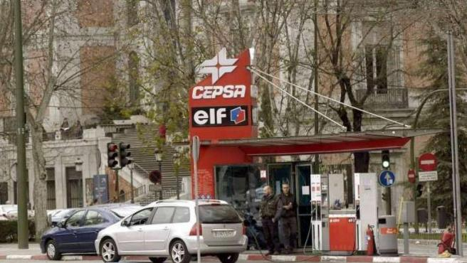 Imagen de una gasolinera.