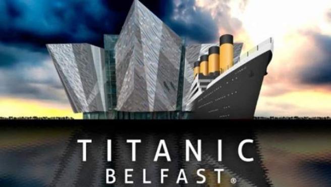 El cartel promocional del centro dedicado al buque más famoso de todos los tiempos.