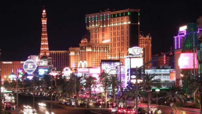 Panorámica de la ciudad de Las Vegas, en Nevada, EEUU.