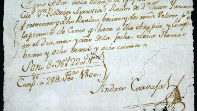 Uno De Los Documentos Aparecidos En Lorca.