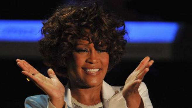 Whitney Houston durante una actuación en un programa de la televisión alemana en 2009.