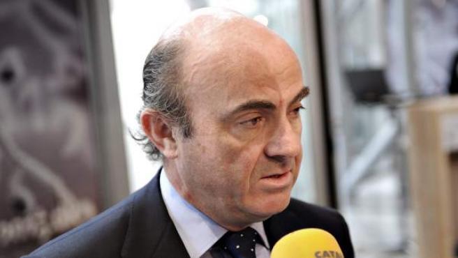 Luis de Guindos, en la reunión de Ministros de Finanzas de la Unión Europea.