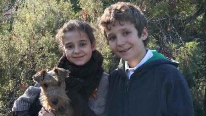 Felicitación de Navidad de la infanta Elena, con sus hijos Froilán y Victoria Federica.
