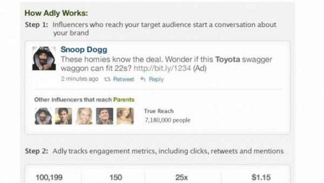 La plataforma Ad.ly pone en contacto a marcas con 'celebrities'.