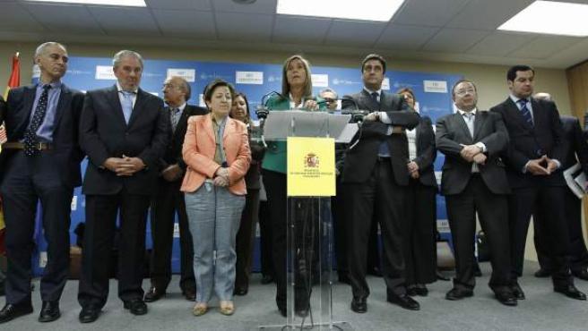 La ministra de Sanidad, Ana Mato, durante la rueda de prensa tras la reunión del Consejo Interterritorial de Salud.