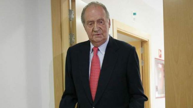 El rey Juan Carlos, tras recibir el alta hospitalaria.