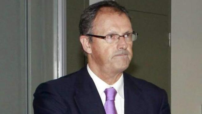 El abogado de Iñaki Urdangarín, Mario Pasqual Vives, a su llegada a la Ciudad de la Justicia de Barcelona, donde el juez José Castro interroga a varios testigos.